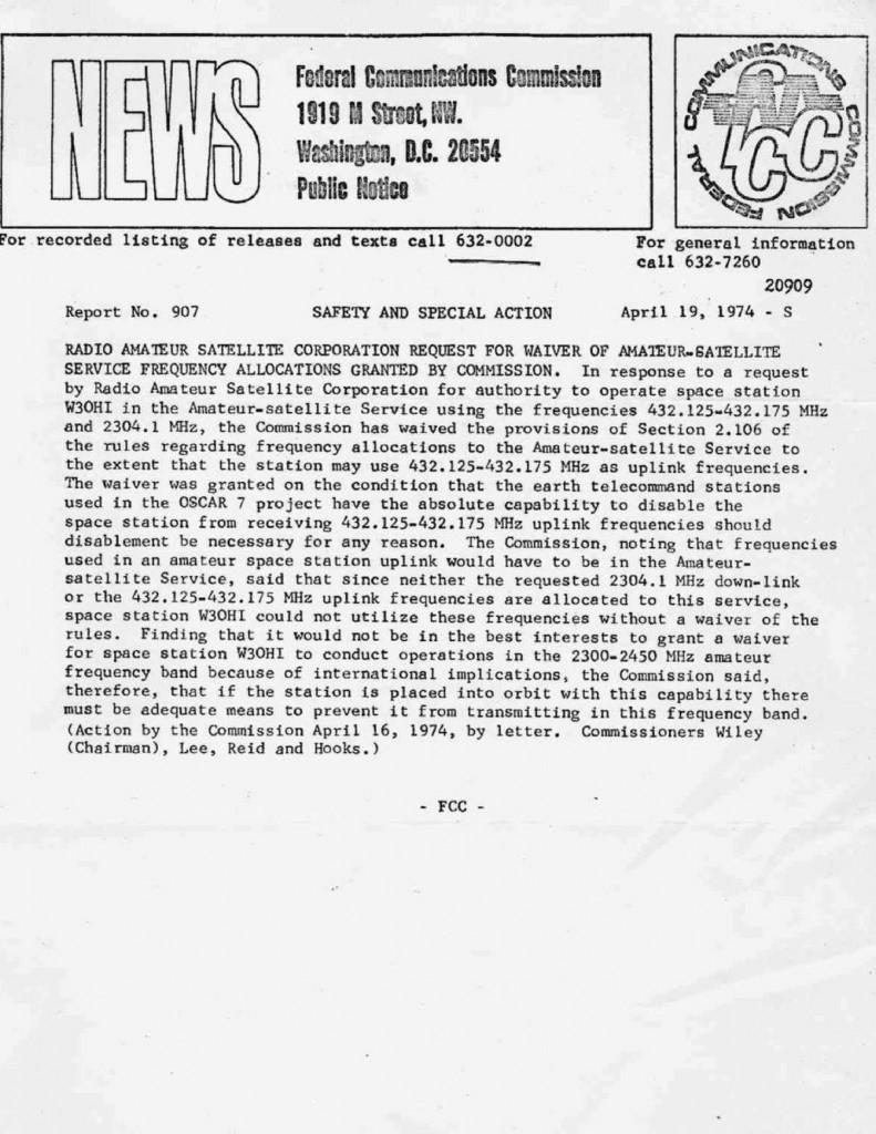 FCC_AO7_waiver-19740419