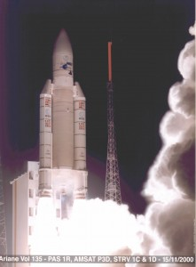 AMSAT Phase 3-D (later AMSAT-OSCAR 40) is launched from Kourou, French Guiana in 2000.
