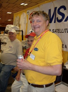 Gould, WA4SXM at the AMSAT Booth at Dayton
