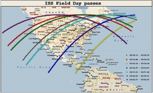 Click for full size image. Each segment starts and ends when the U.S. coastline is  on the horizon of the ISS.