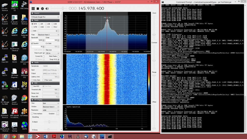 Fox-1A slow speed telemetry