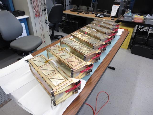 GRACE mission P-PODs including Fox-1, at NPS for NPSCuL integration.