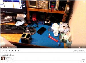 View of live streaming from YouTube