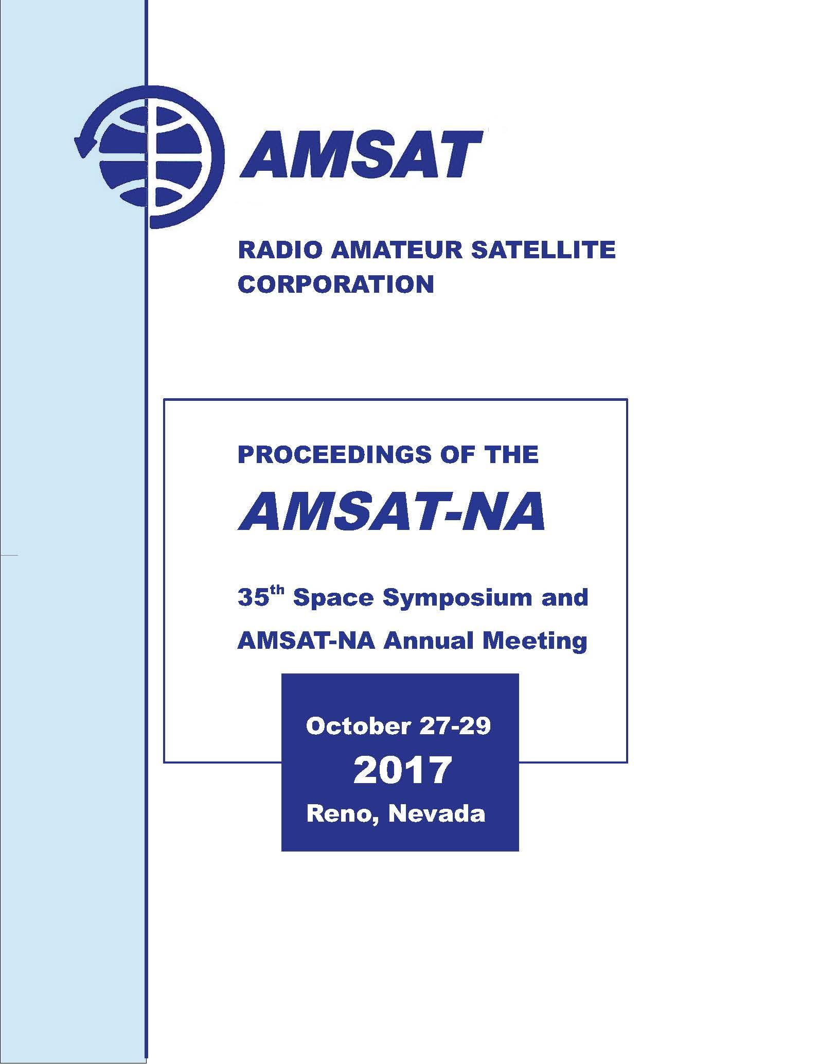 2017 Amsat Symposium Proceedings  U2013 Digital Download  U2013 Amsat