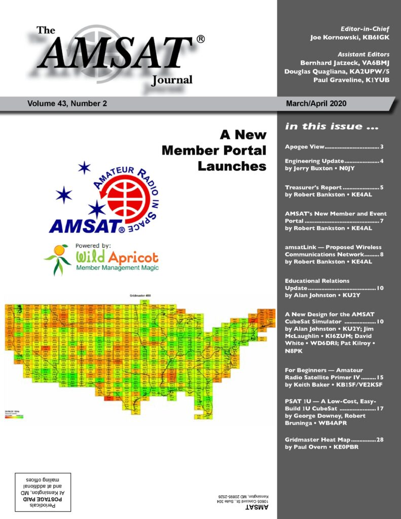 March/April 2020 AMSAT Journal Cover
